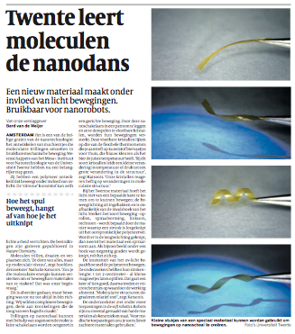 Article in De Volkskrant